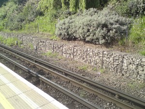 Gabions on railway line 1