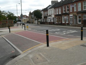 Traffic calming crossing on road, Wandsworth London